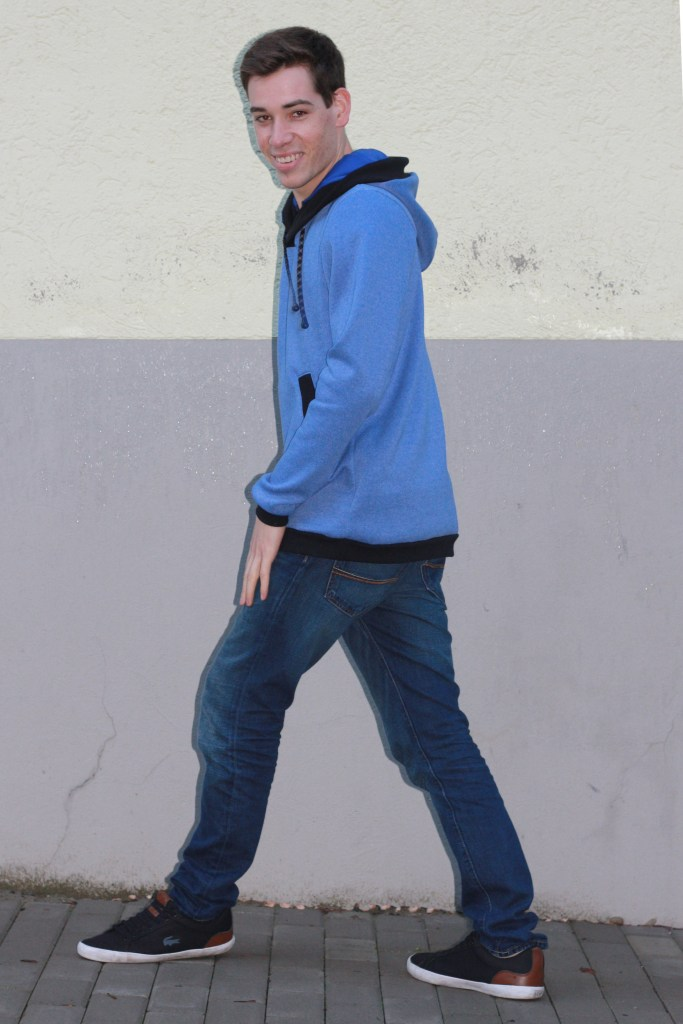blue hoodie for men