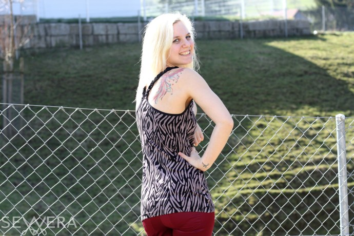 sexy back braided top sewing diy