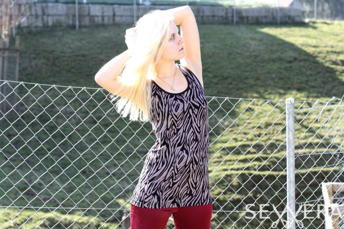zebra fashion top