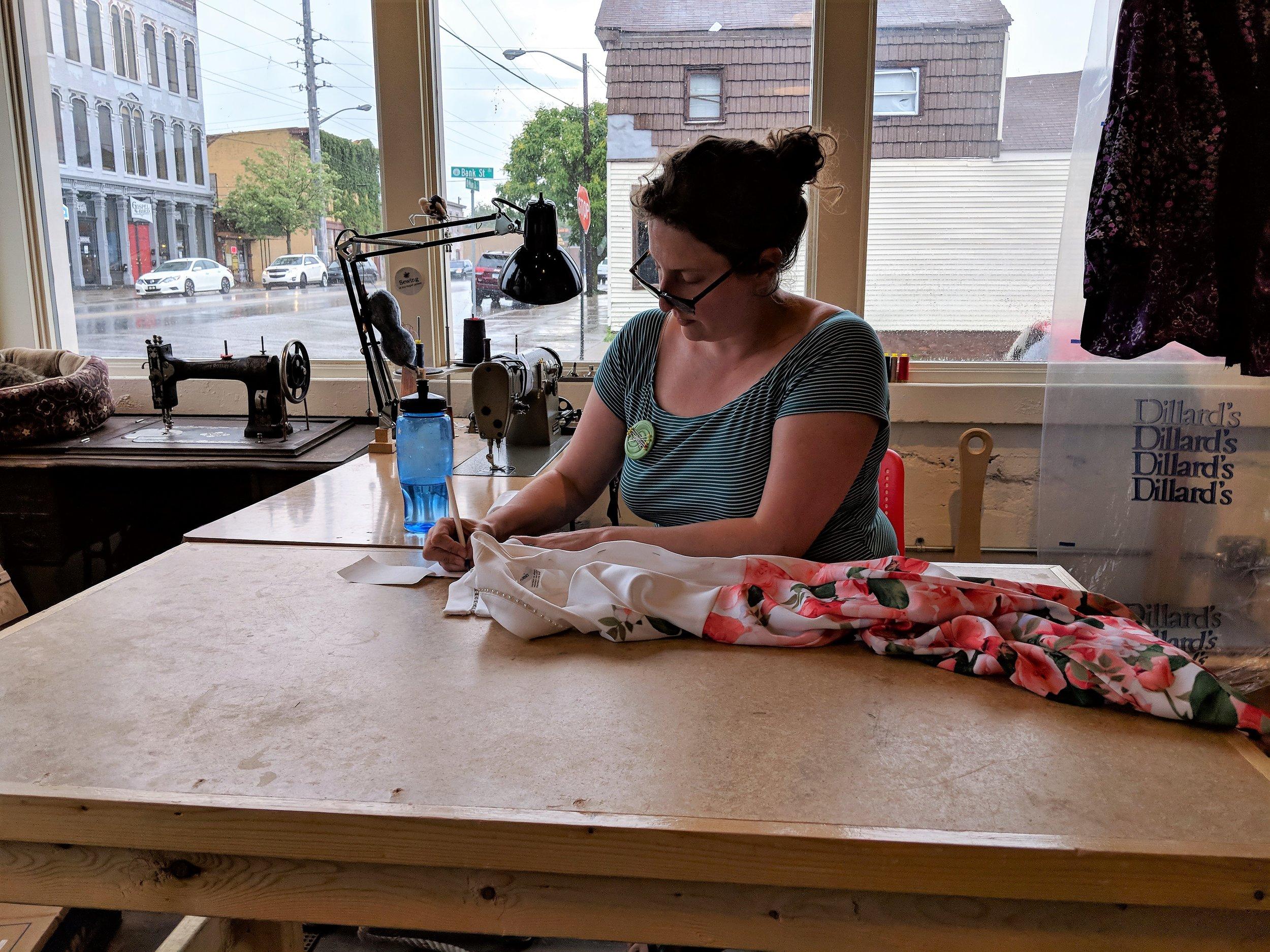 Preparing a garment for alterations