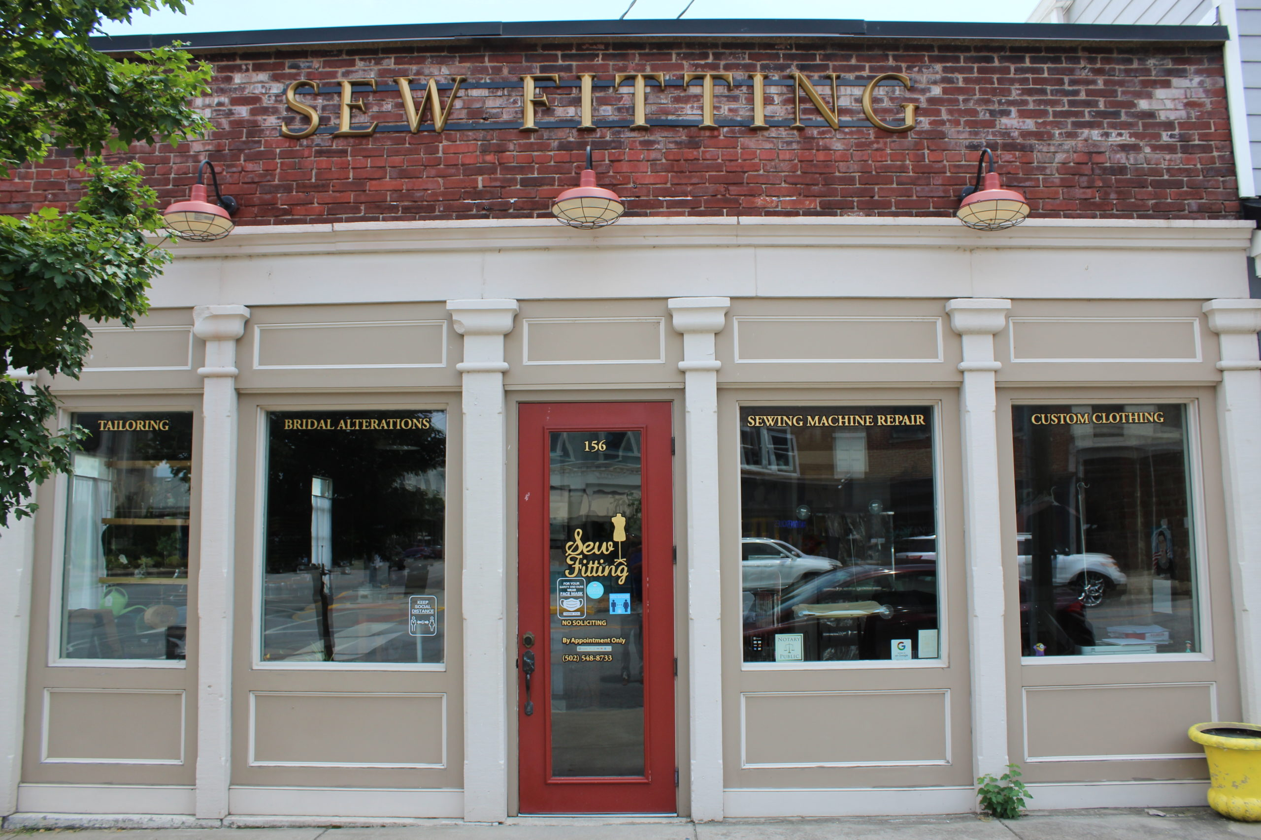 Sew Fitting store front