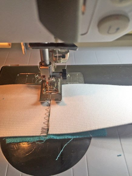 Waistband Elastic - stitching second end