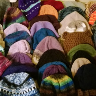 Homeless Hats collected