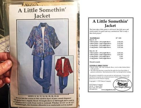 Little Somethin' Jacket cover & back