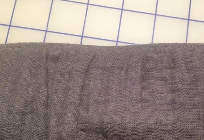 edge-stitching at waist edge