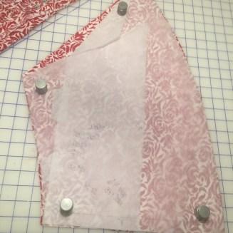 Peplum skirt cut