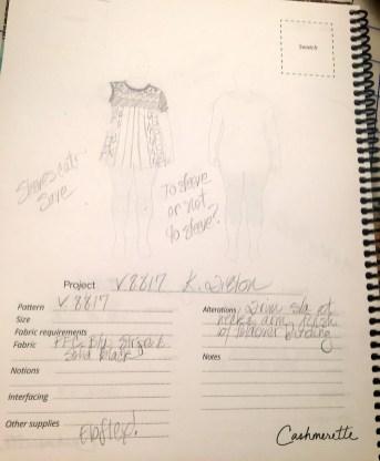 sketching design options