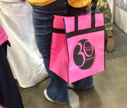 From a few years ago! This year is the 35th and we're all making our own totes this year.