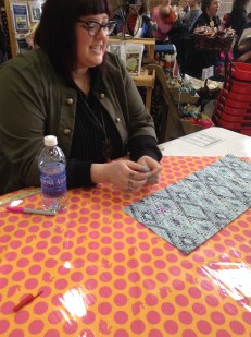 Tula signing fat quarter