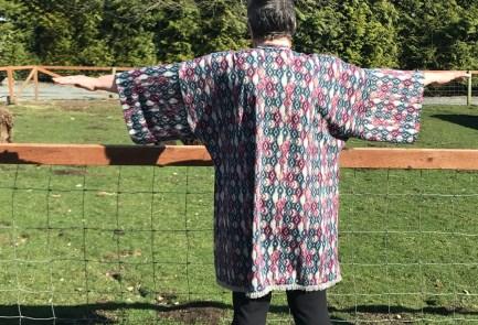 sheep kimono back