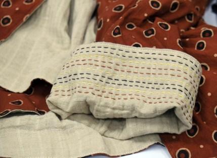 Kantha stitched cuff