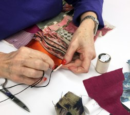 Kantha stitching