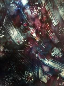 Soy Wax Batik dyed fabric 2