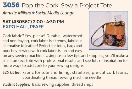 3056 Pop the Cork! Sew a Project Tote