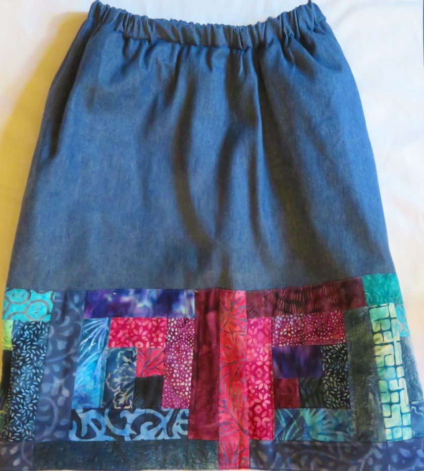 This image has an empty alt attribute; its file name is Log-Cabin-Denim-Skirt-by-LJ-Christensen-922x1024.jpg