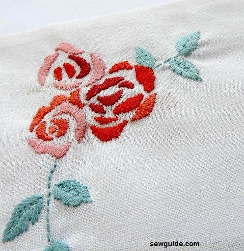 rose embroidery 12 ways