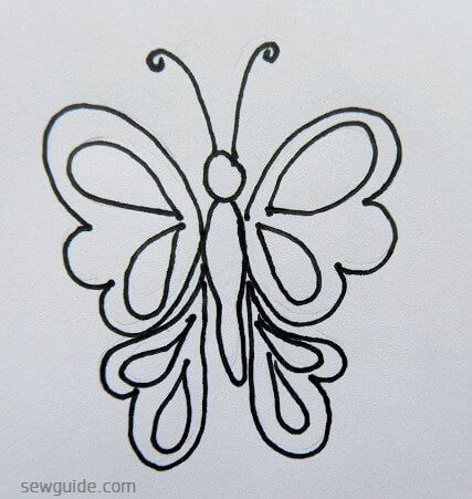 20 Simple Butterfly designs for paintings & embroidery