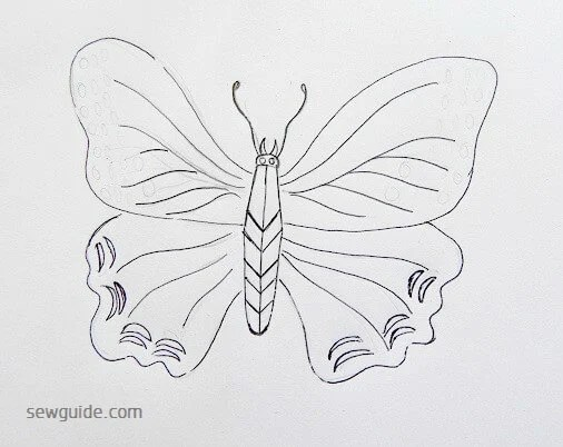 20 Simple Butterfly Designs For Paintings Embroidery Sew Guide