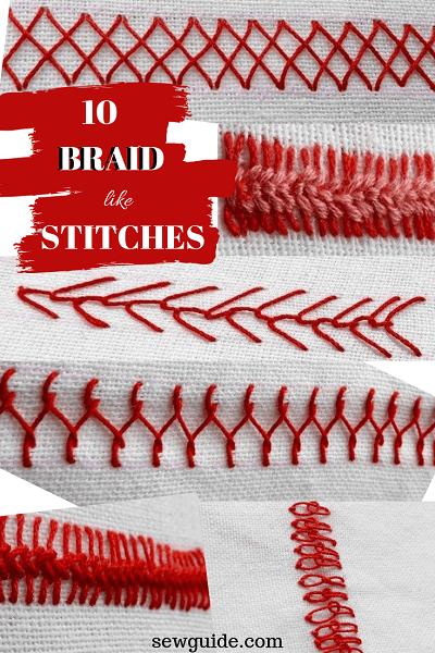 Braid Stitch Embroidery : braid, stitch, embroidery, Braid, Stitch:, Beautiful, Stitches, Braids, Guide