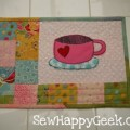 Tutorial tuesday mug rug with free pdf template by me sewhappygeek