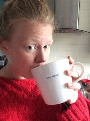 I seem to have a tea-drinking selfie face