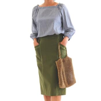 #25 【美人服レシピ】型紙不要!直線裁ちで作れるタイトスカート