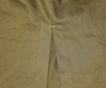 型紙無しで直線裁ちするタイトスカートの無料レシピ