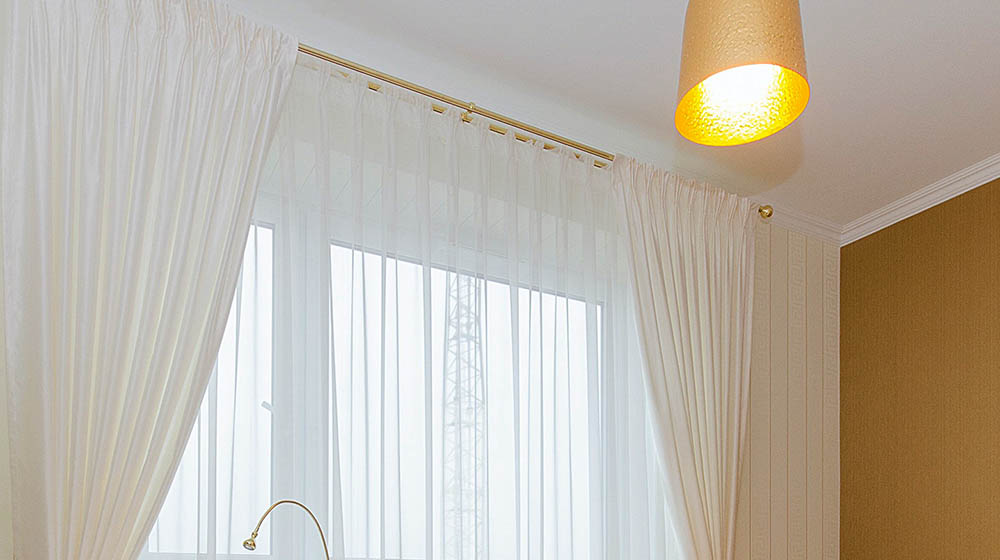 simple diy rod pocket curtains for