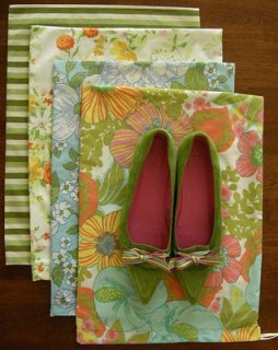 Tutorial Easy Shoe Bag Sewing