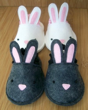 Bunnykins Baby Slippers Pattern Sewing