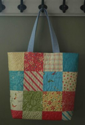 Tutorial Charm Square Tote Sewing