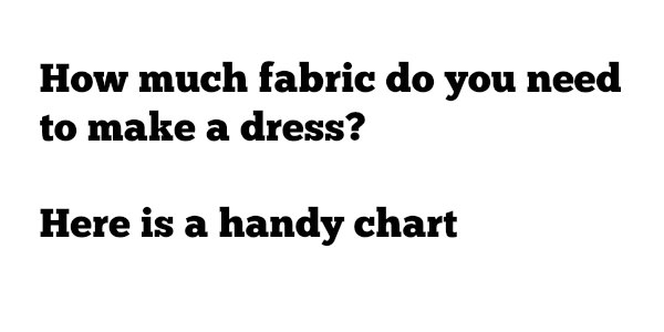 How much fabric do you need to make a dress?
