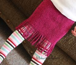 littlegirlskirtfromascarf