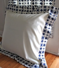 Tutorial Euro sham pillow cover  Sewing