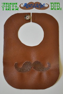 Tutorial Vinyl Mustache Baby Bib Sewing
