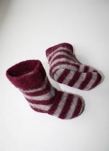 Tutorial Recycled Wool Sweater Slippers Sewing