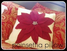 Tutorial Poinsettia Throw Pillow Sewing