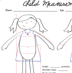 freebie child measurement chart sewing. Black Bedroom Furniture Sets. Home Design Ideas