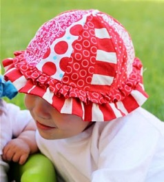 Tutorial Scrappy Sun Hat For Babies Sewing