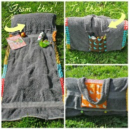 Tutorial Sunbather S Companion Towel Mat With Pillow Sewing