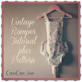 Free Pattern Vintage Style Baby Romper Sewing