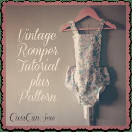 Free Pattern Vintage Style Baby Romper Sewing