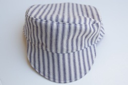 Free pattern child size conductor s hat sewing for Conductor hat template