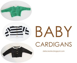 bed80331d Tutorial  Baby cardigan refashioned from an adult sweater or top ...