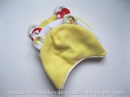 Tutorial: Baby bear fleece hat