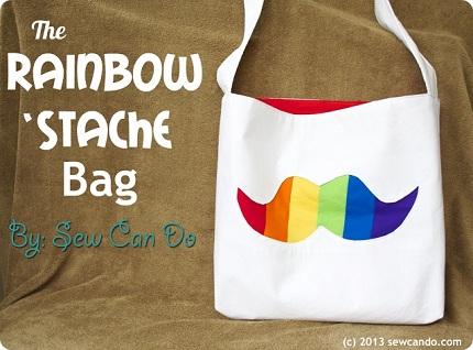 Rainbow Stache Bag SCD