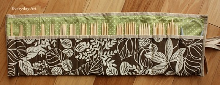 Tutorial: Roll-up crochet hook or knitting needle organizer   Sewing