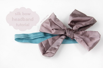 Tutorial Silk Bow Headband For Baby Sewing