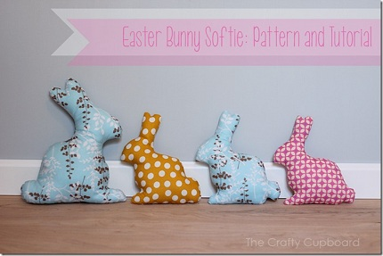 Free pattern bunny silhouette softie sewing for Bunny template for sewing