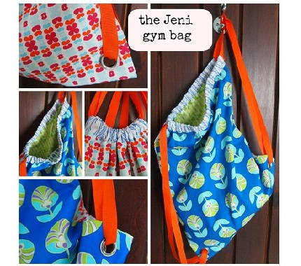 Tutorial Drawstring Backpack With Grommets Sewing